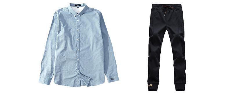 蓝色衬衫配什么裤子1.jpg