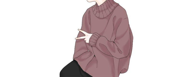 红色毛衣搭配插图