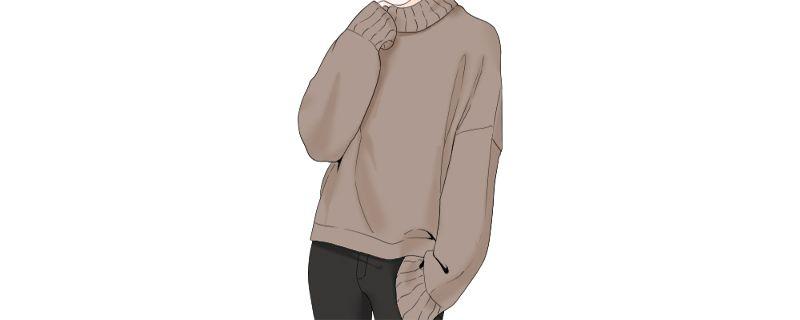 灰色毛衣搭配插图