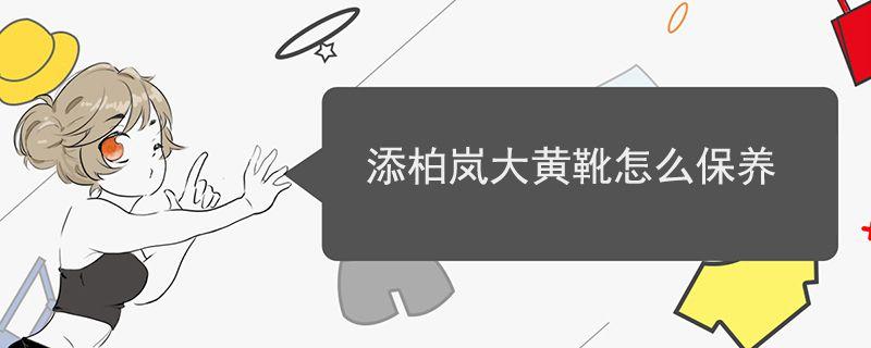 添柏岚大黄靴怎么保养.jpg